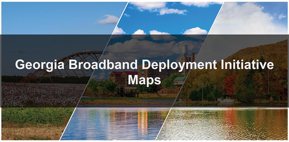 Georgia Broadband Deployment Initiative maps