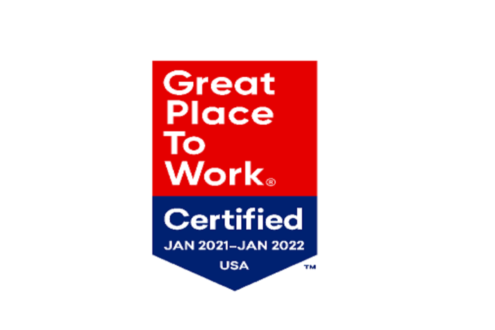 Great place to work badge 2021